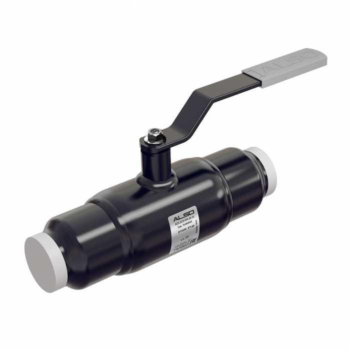 Шаровой полнопроходной стальной кран ALSO КШ.П.П.080.25-01