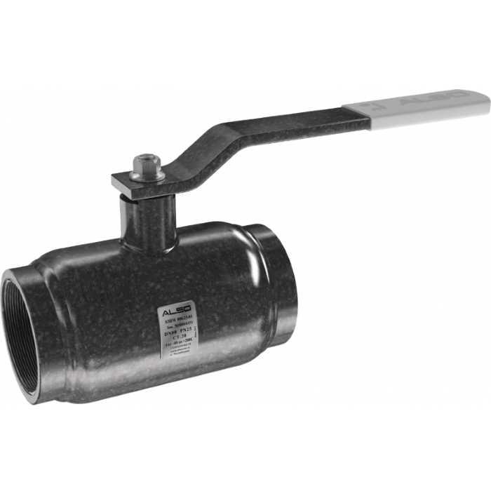 Шаровой муфтовой стальной кран ALSO КШ.М. 25