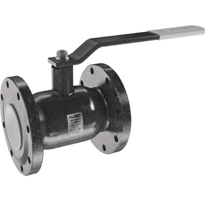 Шаровой фланцевый стальной кран ALSO КШ.Ф. 80 (PN 25)