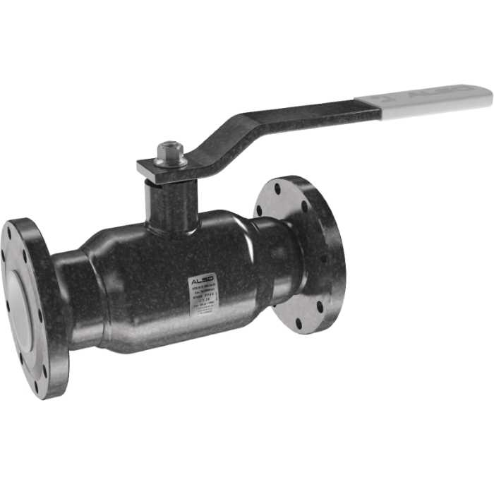 Шаровой полнопроходной фланцевый стальной кран ALSO КШ.Ф.П. 80 (PN 25)