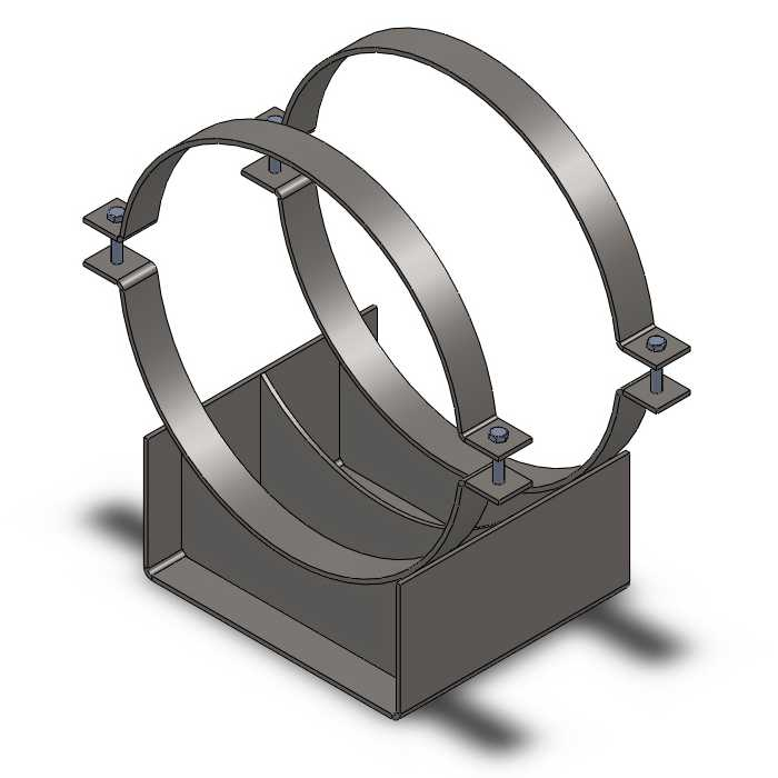 Скользящая подкладная опора (СПОк) для труб в ППУ 89/180