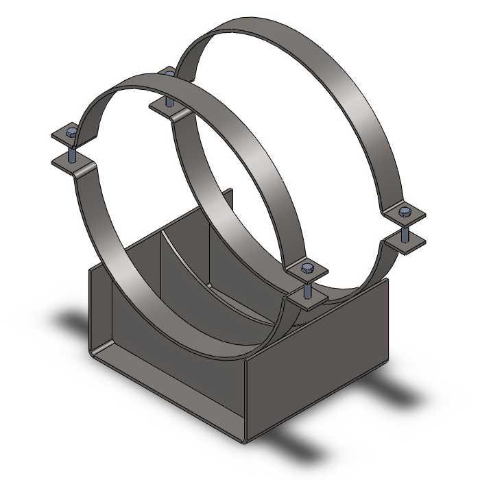 Скользящая подкладная опора (СПОк) для труб в ППУ 630/800
